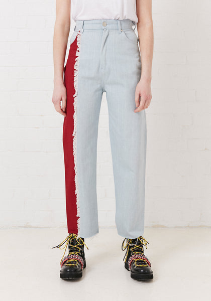 Vivid Contrast Mom Jeans