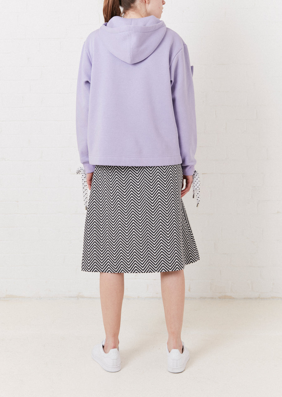 Lilac Bodice Hoodie With Polka Dot Detail