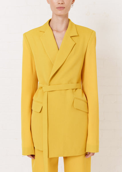 Yellow Tailored Suit Jacket