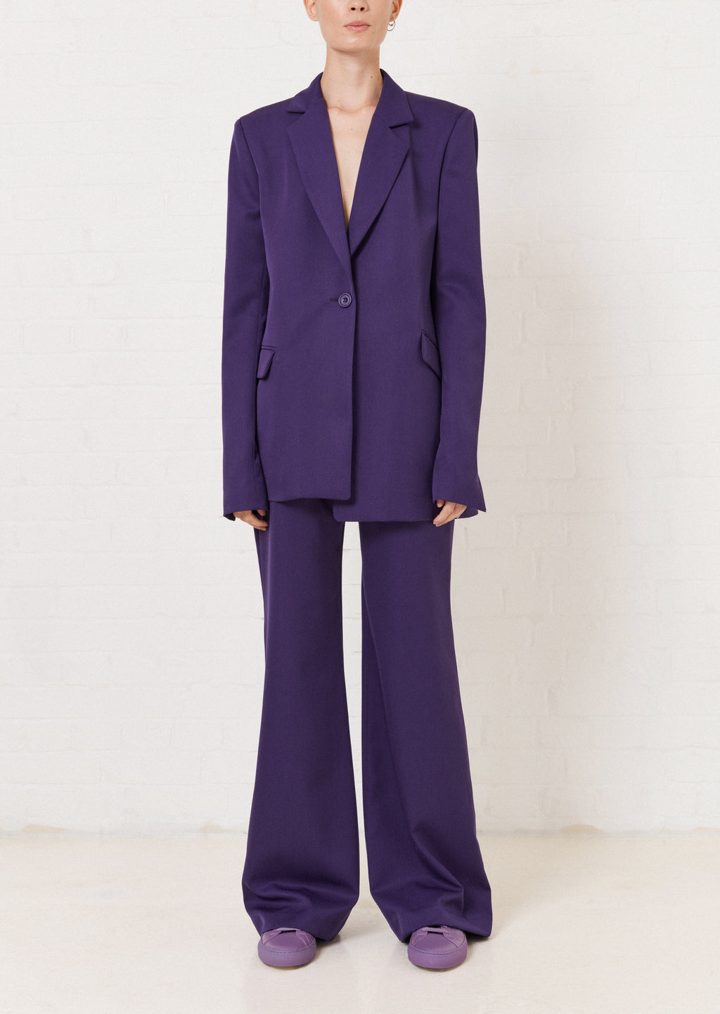 Purple Tailored Suit Jacket