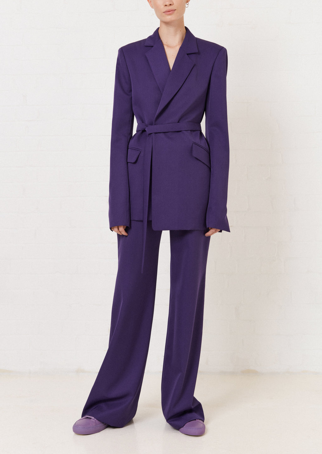 Purple Wide Leg Trouser