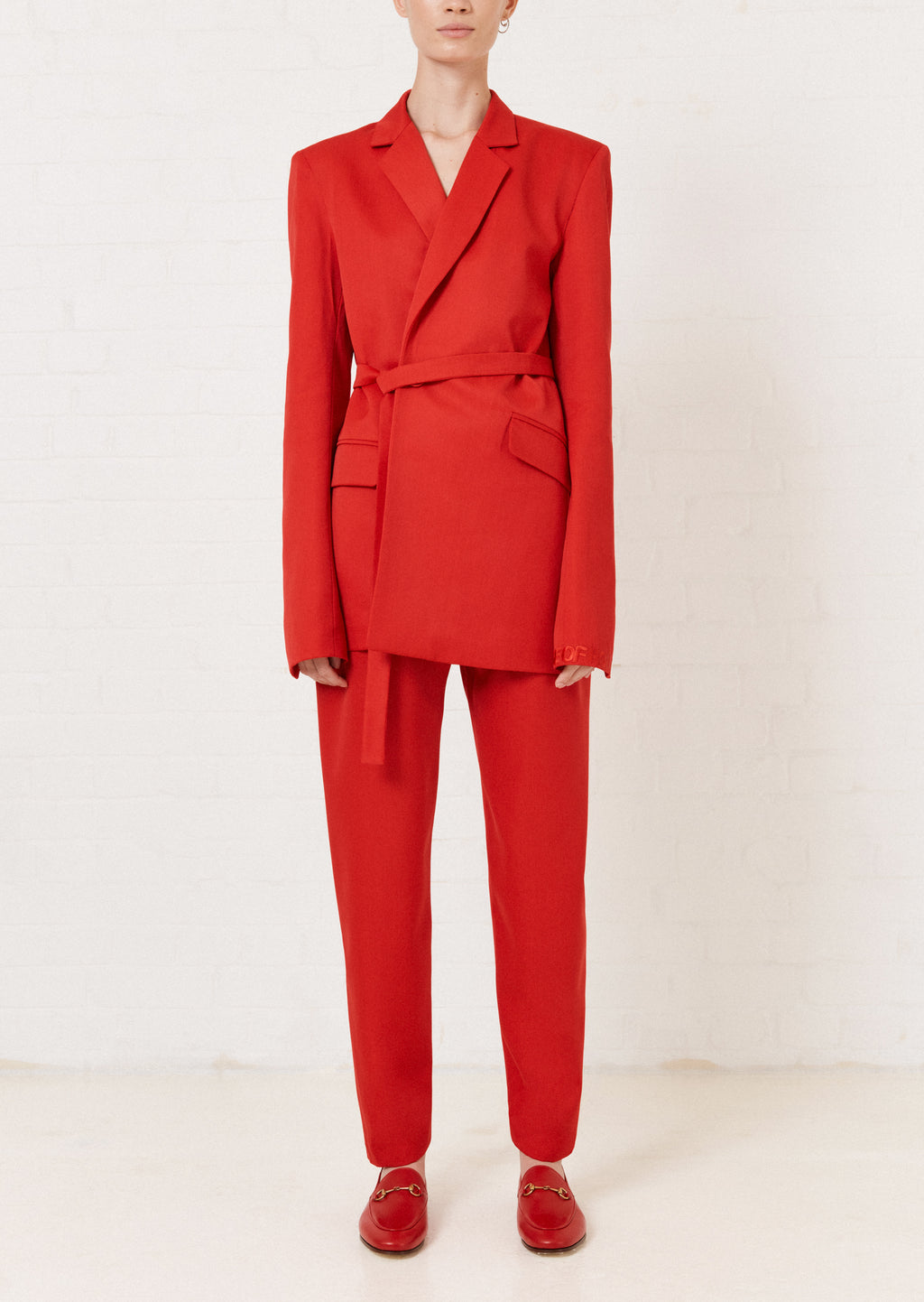 Red Tailored Suit Jacket