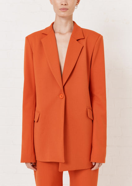 Orange Tailored Suit Jacket