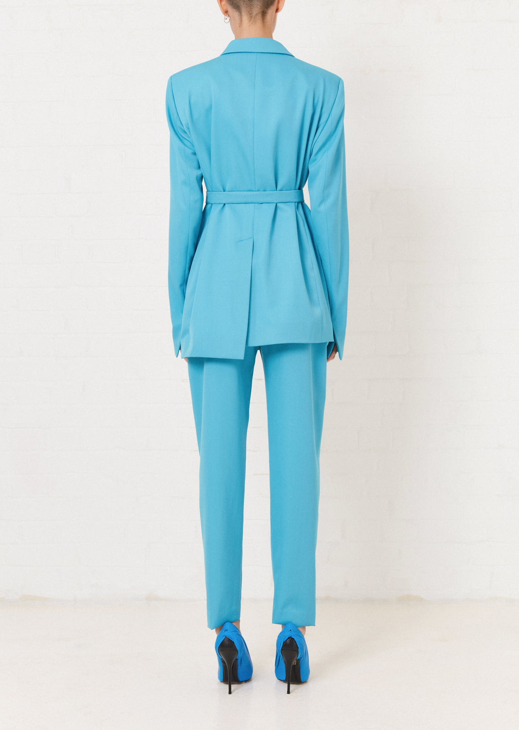 Turquoise Tailored Suit Jacket