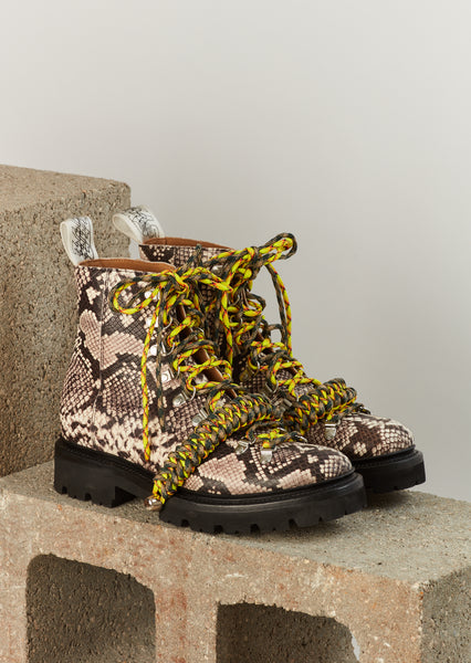 House of Holland x Grenson Hiking Boot (Brown Snake Skin)