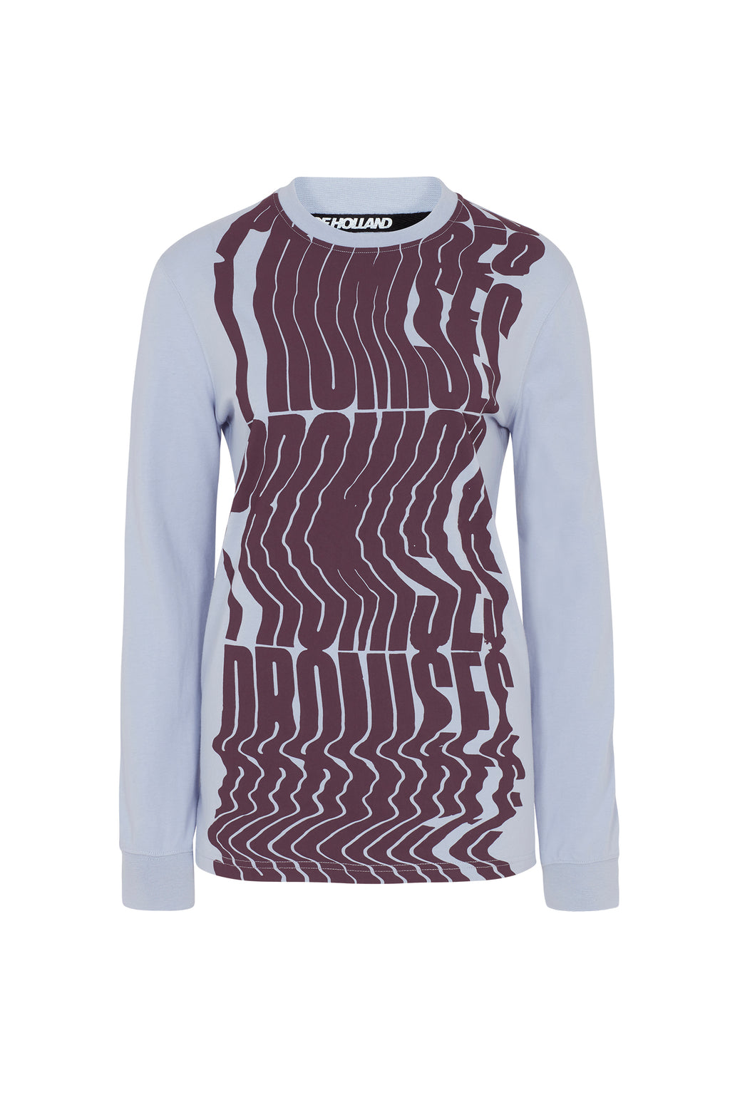 House of Holland x Andrew Brischler 'Promises' Lilac Long Sleeve Top by House of Holland
