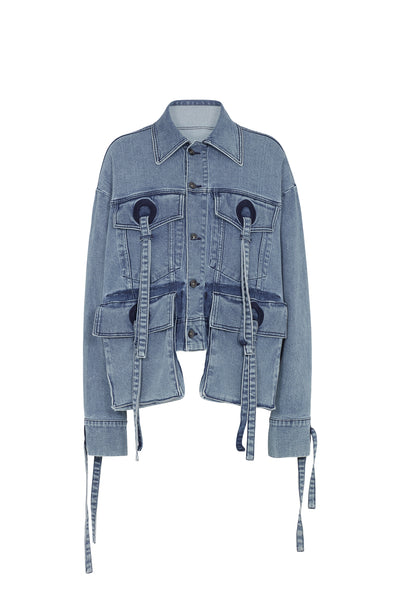 Utility Oversized Denim Jacket