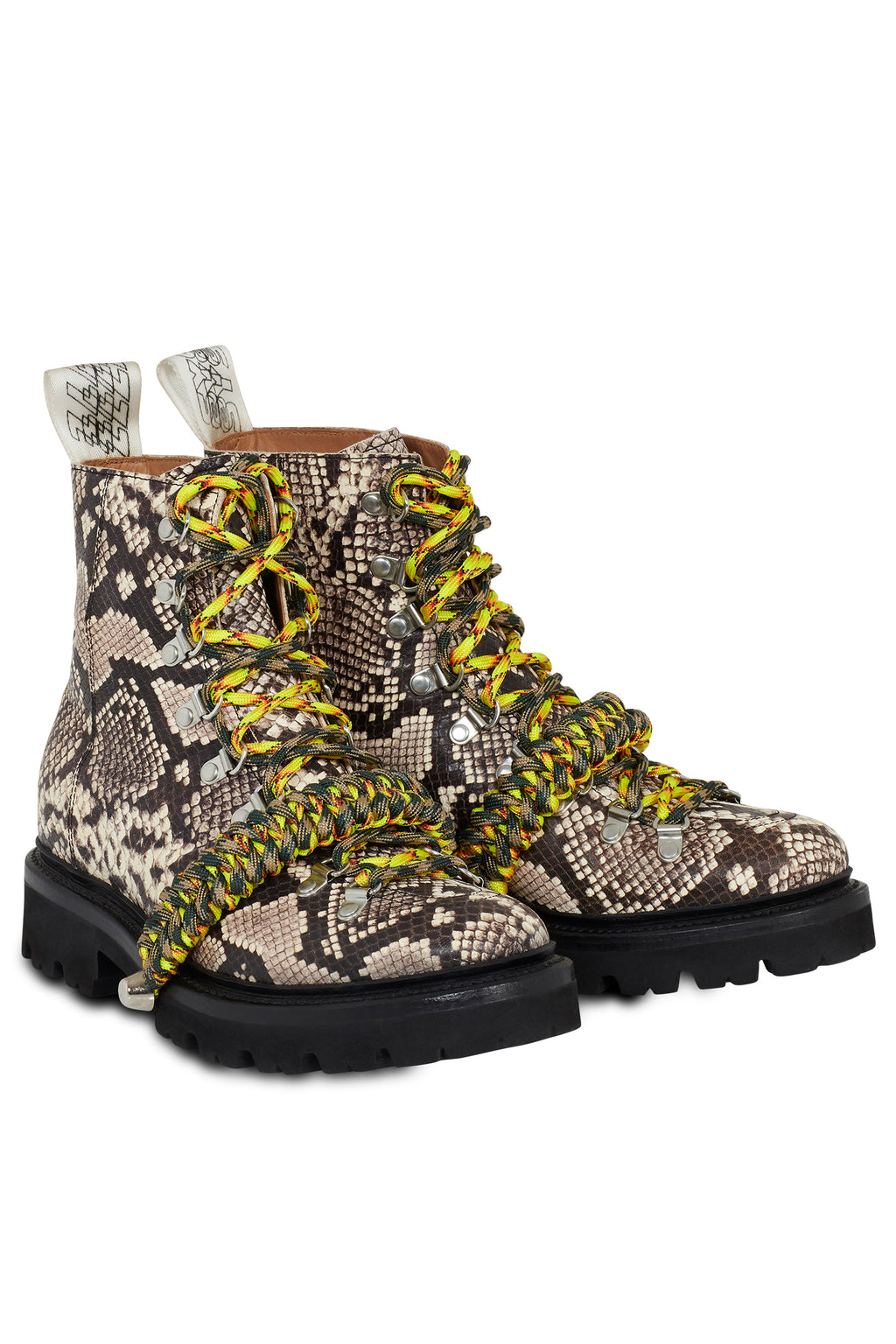 House of Holland x Grenson Hiking Boot (Brown Snake Skin) by House of Holland