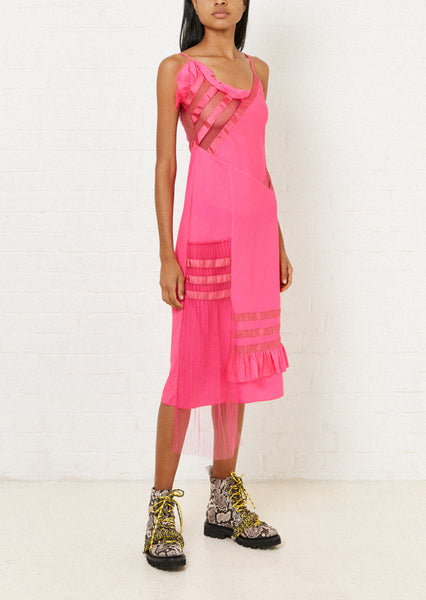 Fuchsia Ripstop Slip Dress