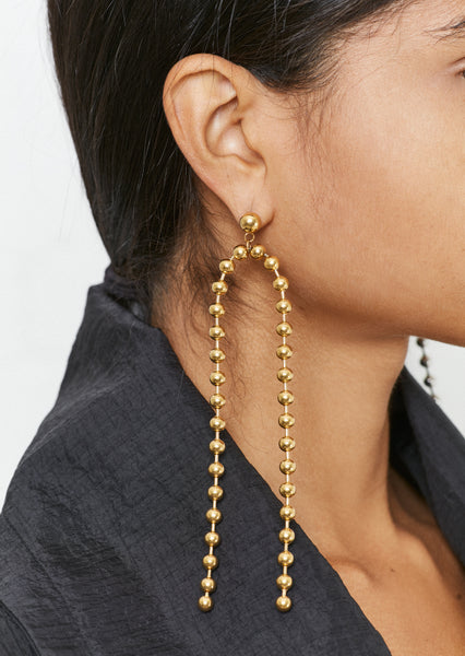 Gold Ball Chain Drop Earrings