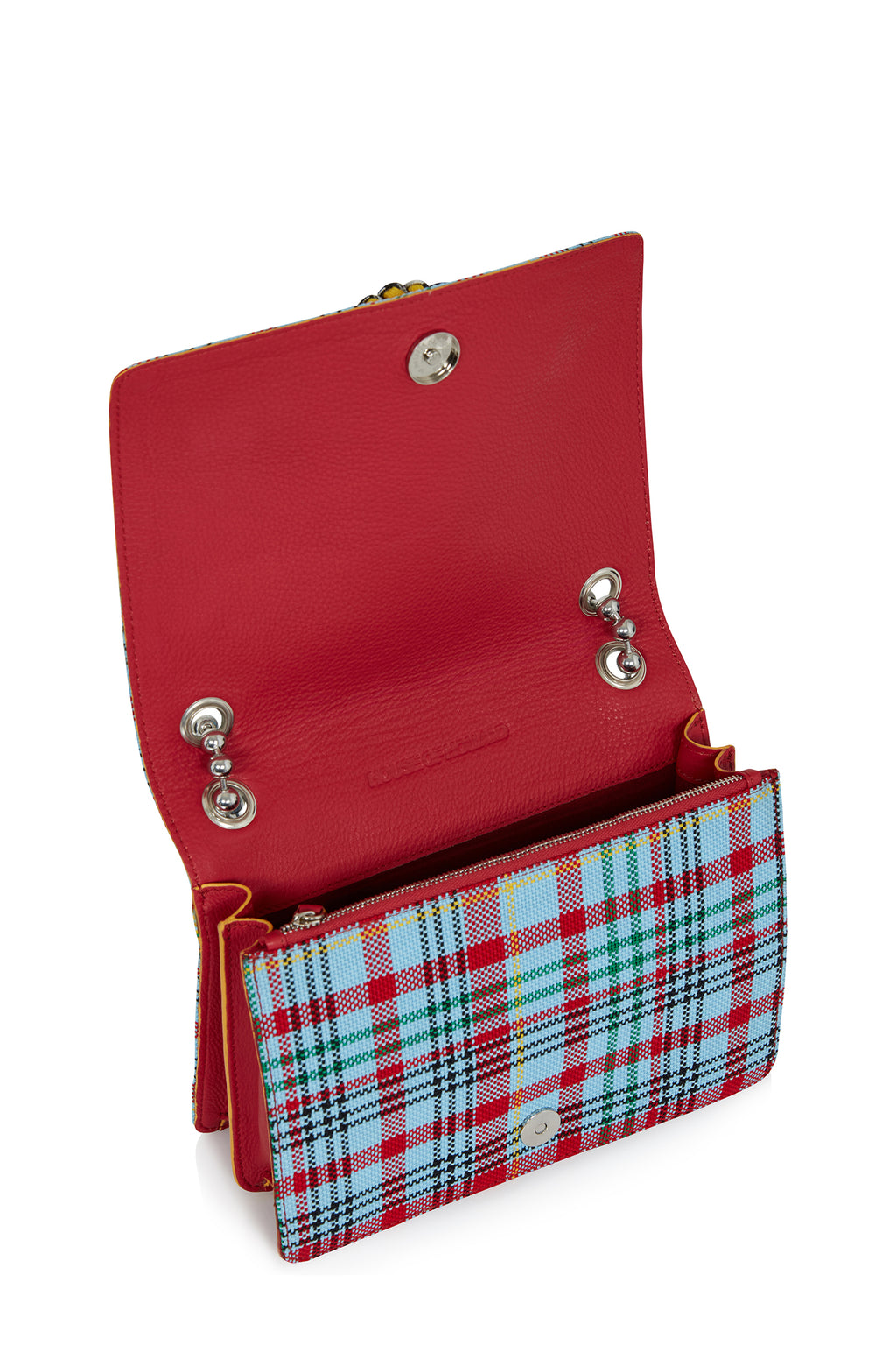 'Margot' Cross Body Bag (Blue Tartan) by House of Holland