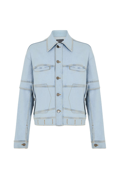 Back to Front Deconstrcuted Denim Jacket
