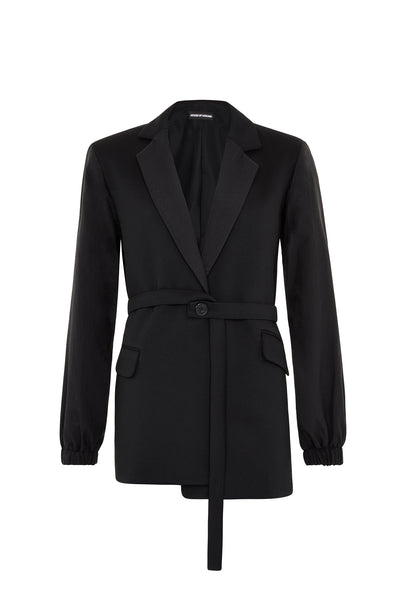 Rip Stop Black Tailored Jacket