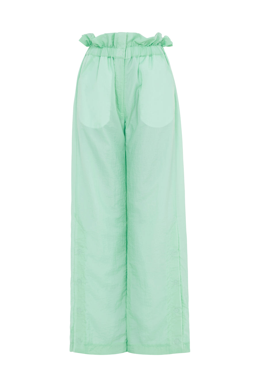 Paperbag Waist Ripstop Trousers (Mint Green) by House of Holland