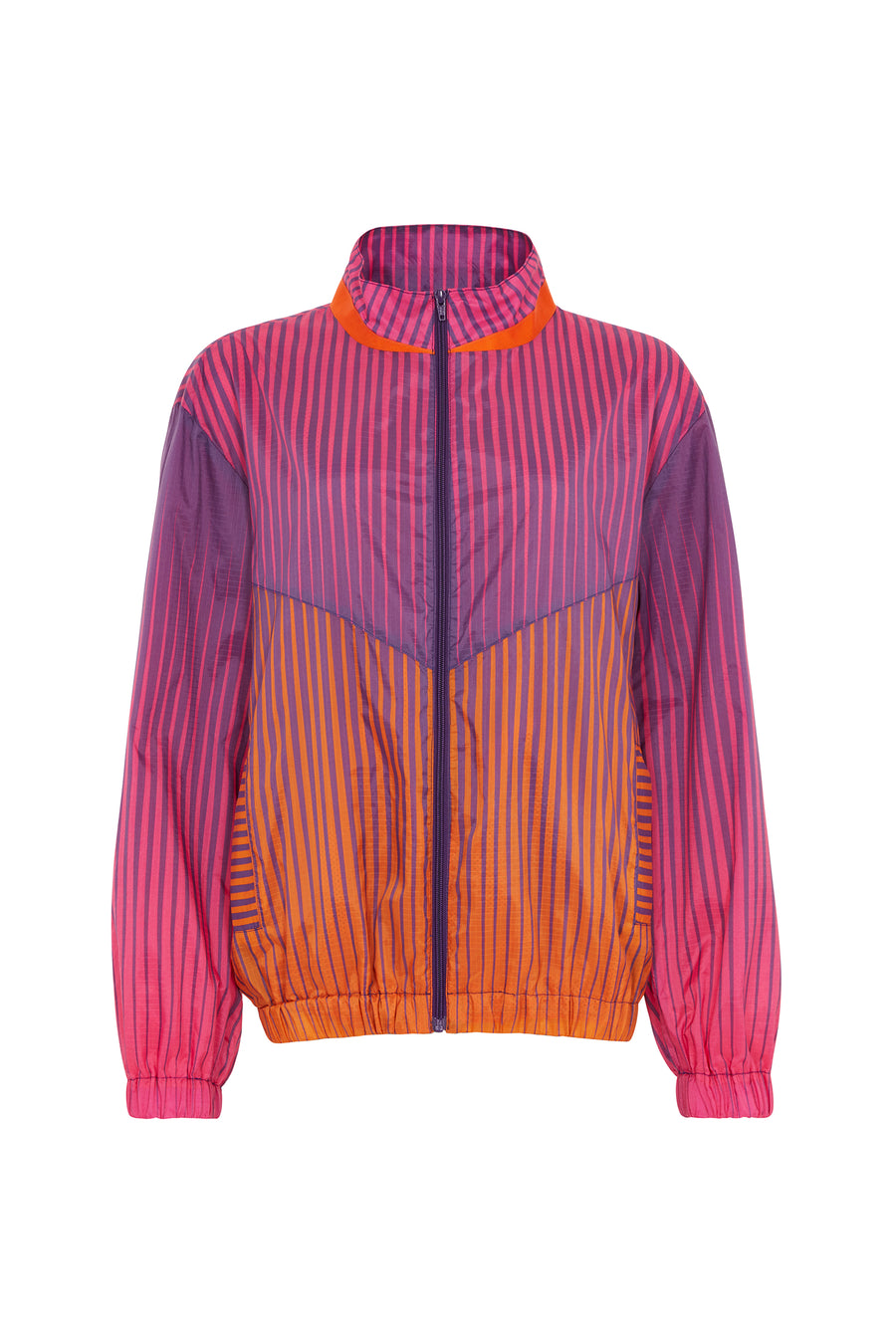 Andrew Brischler Neon Print Track Top (Pink & Orange) by House of Holland