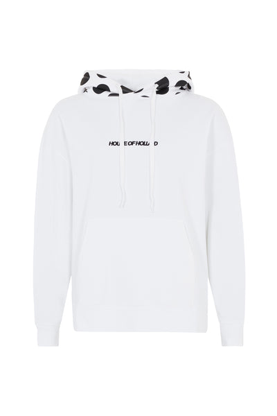 White With Black Spot Hoodie