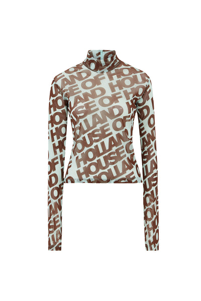 HOH Mint Printed Long Sleeve Top