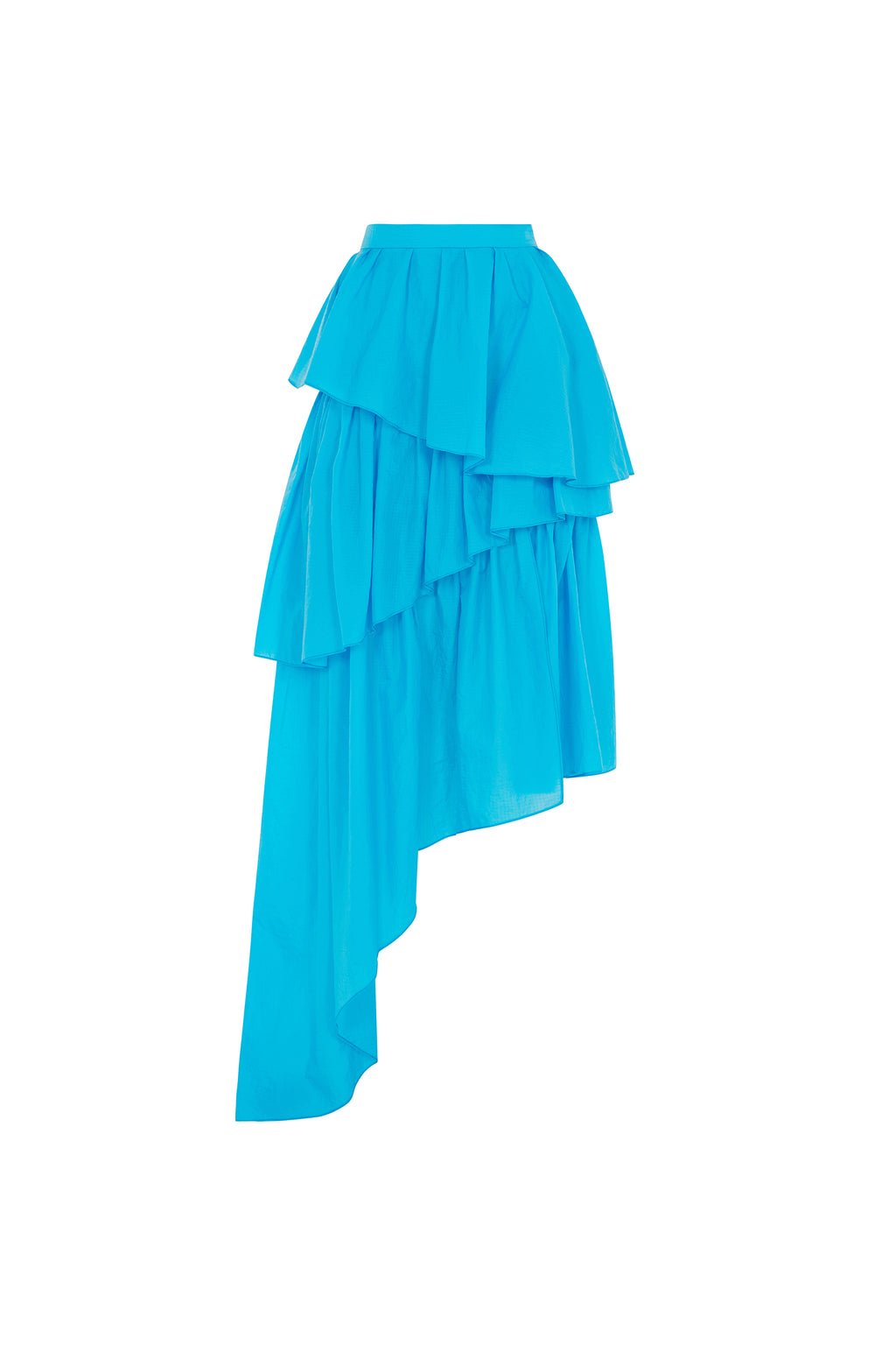 Frilled Riptstop Midi Skirt (Vivid Blue) by House of Holland