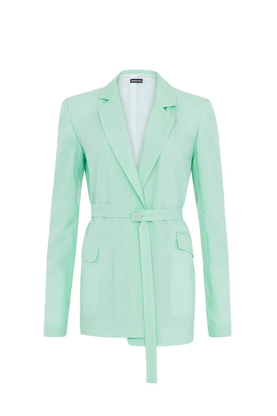 Ripstop Tailored Jacket (Mint Green)