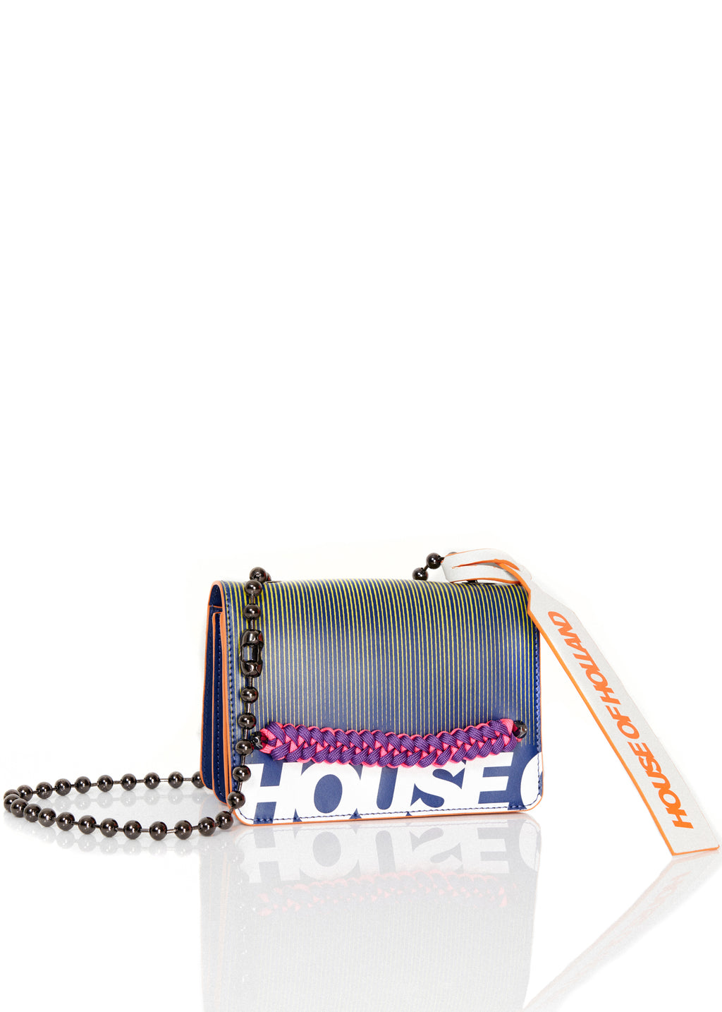 Neon Print Leather Cross Body