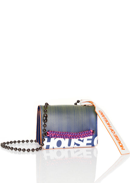 Neon Print Leder Cross Body