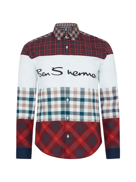 House of Holland X Ben Sherman Long Sleeve Multi Check Printed Shirt