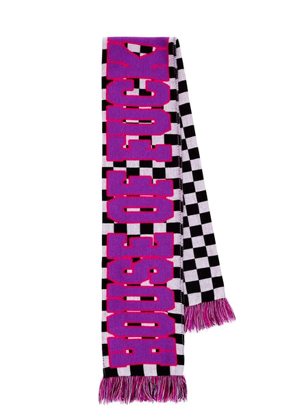 Checker Board 'House of F***ing Holland' Scarf