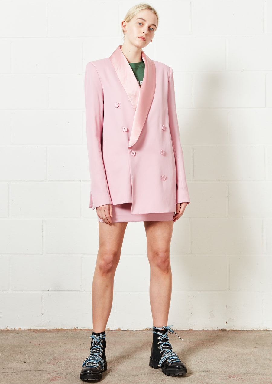 Pink Suit Mini Skirt