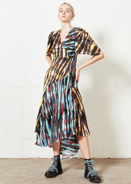 Mixed Tie Dye Midi Dress