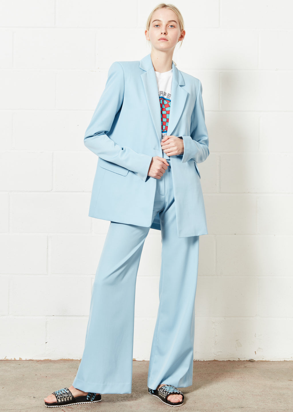 Pale Blue Tailored Jacket