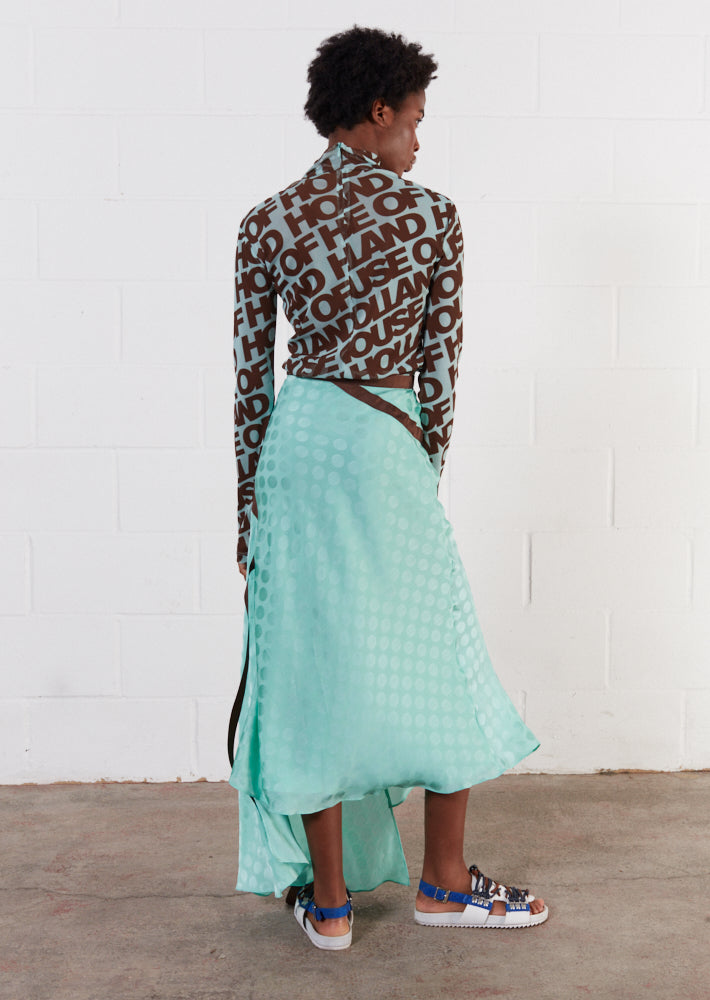 Jacquard Mint Midi Skirt