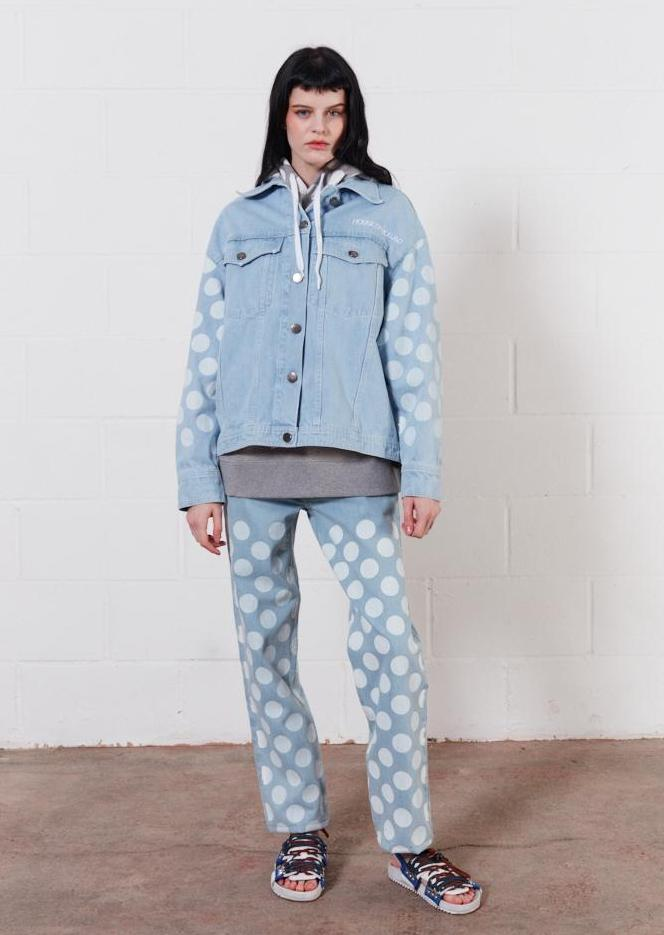 White/Light Spot Oversized Denim