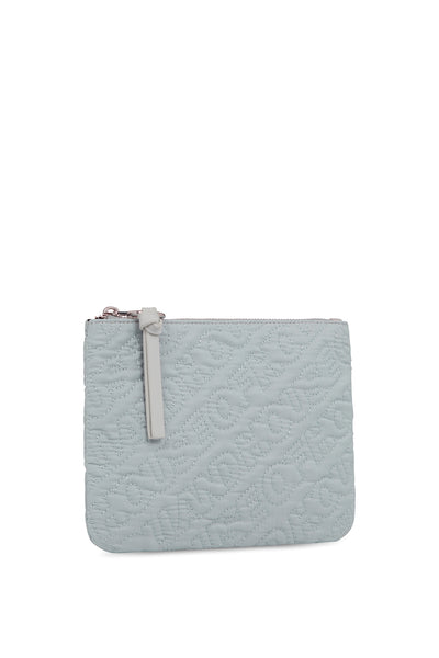 'HOH' Silver Embroidered Pouch