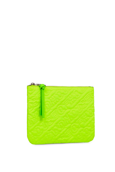 'HOH' Neon Green Embroidered Pouch