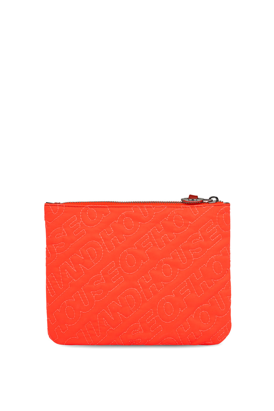 'HOH' Neon Orange Embroidered Pouch