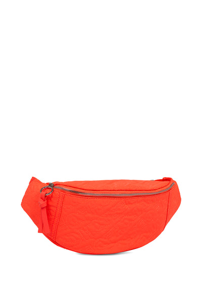 Sac ceinturon brodé orange fluo 'HOH'