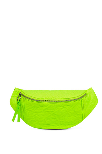 'HOH' Neon Green Embroidered Belt Bag