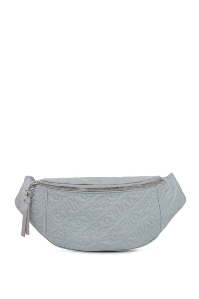 'HOH' Silver Embroided Belt Bag