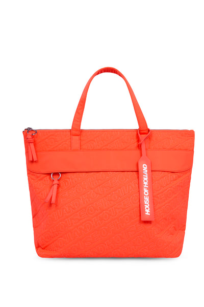 'HOH' Neon Orange Embroidered Tote