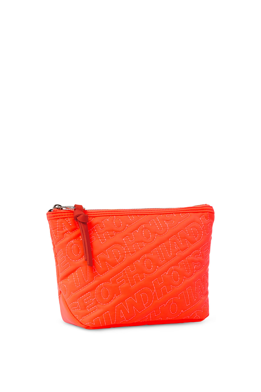 'HOH' Neon Orange Embroided Grab Bag