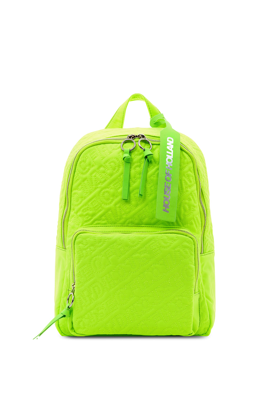 'HOH' Neon Green Embroidered Backpack