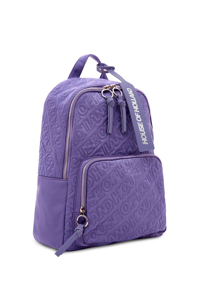 'HOH' Purple Embroidered Backpack
