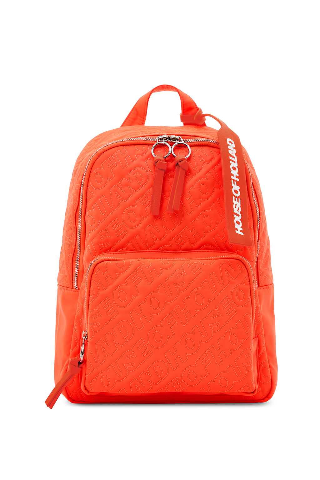 'HOH' Neon Orange Embroidered Backpack