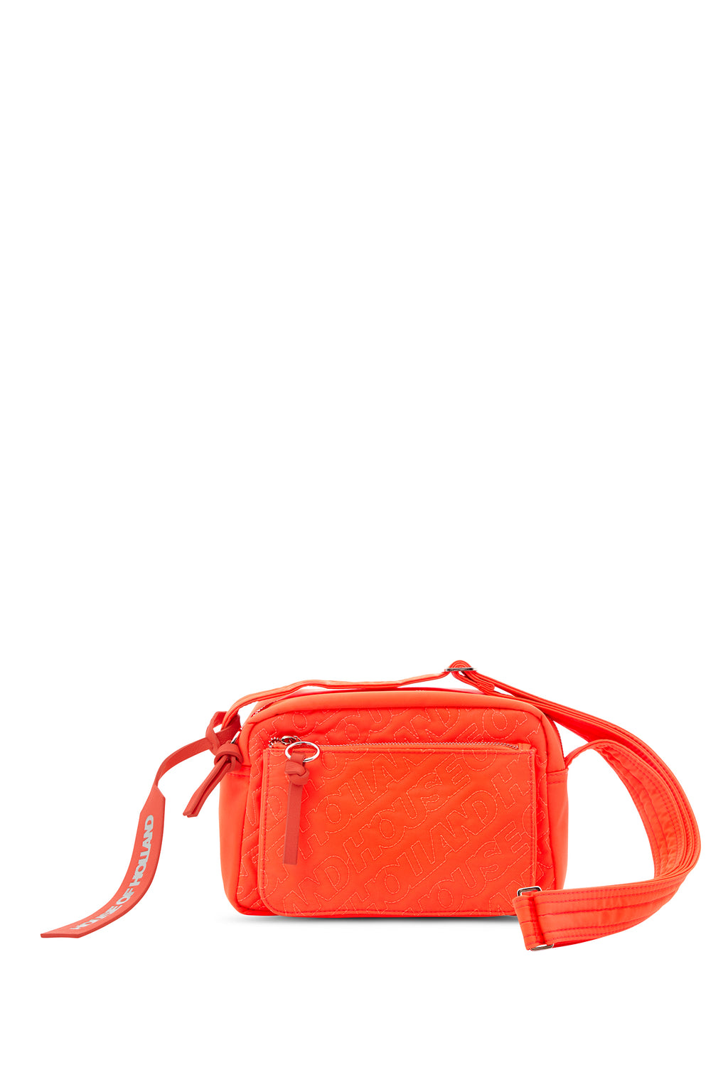 """HOH"" Neonorange bestickter Cross Body"