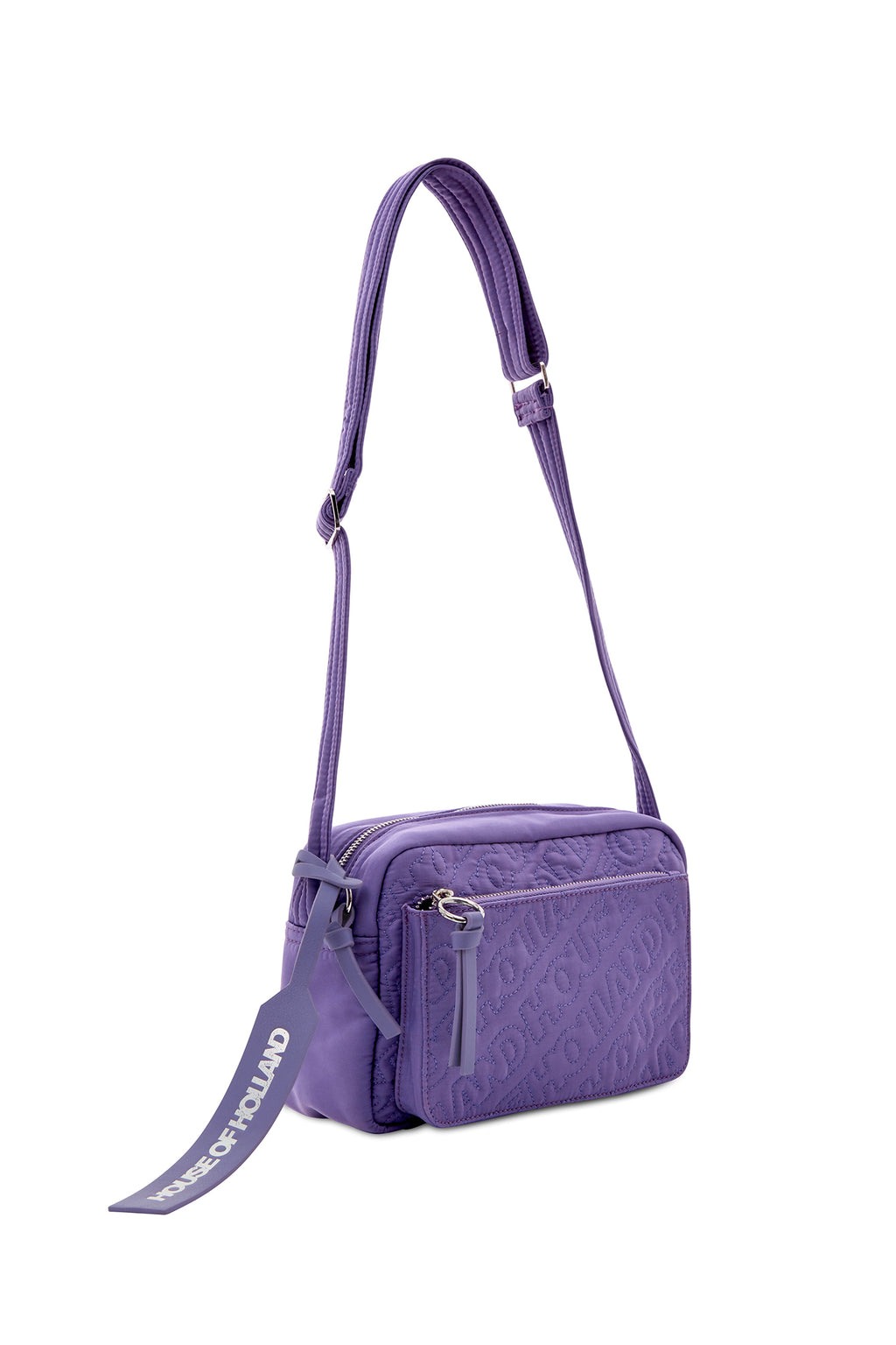 'HOH' Cross Body brodé violet