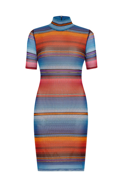 Sunset Stripe Minikleid