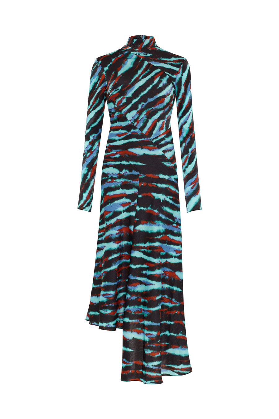 Blue Tie Dye Bias Twist Dress