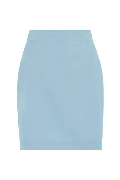 Blue Suit Mini Skirt