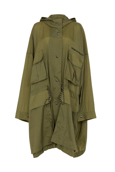 Khaki Oversized Raincoat