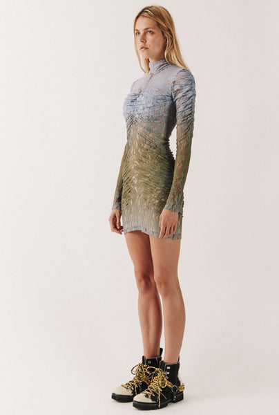 Ombre Lace Mini Dress